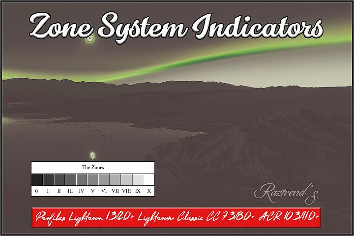 Zone System Indicators profiles Lightroom and ACR