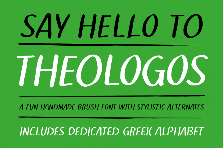 Theologos handmade brush font