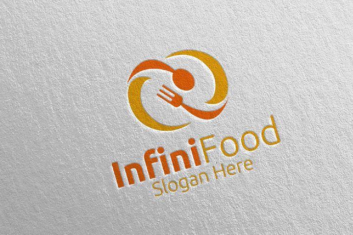 Infinity Food Logo for Restaurant or Cafe 27
