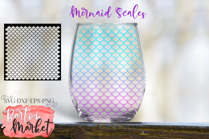 Mermaid Scales SVG DXF EPS PNG