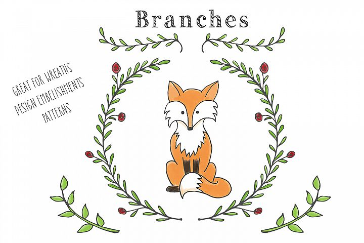 Woodland Animal Clipart Set - Free Design of The Week Design 3