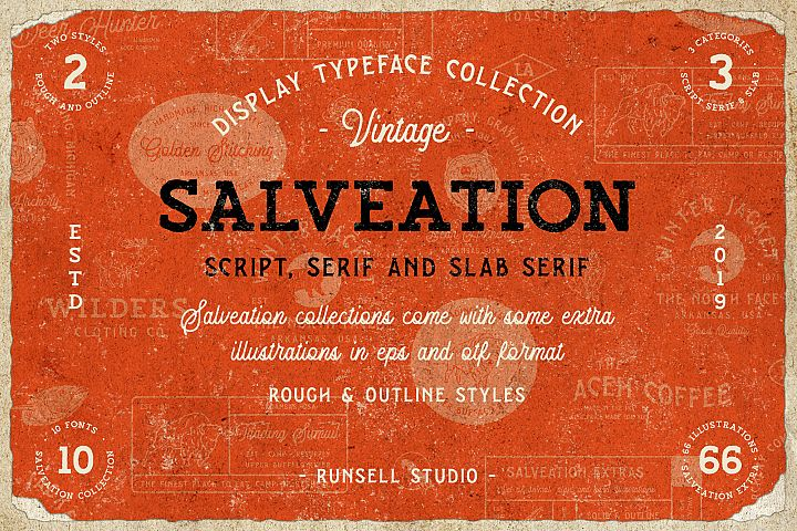 Salveation Font Collection