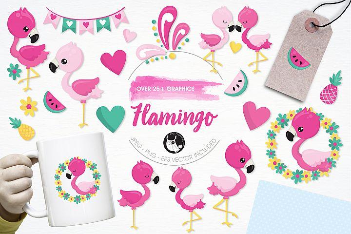 Flamingo graphics and illustrations