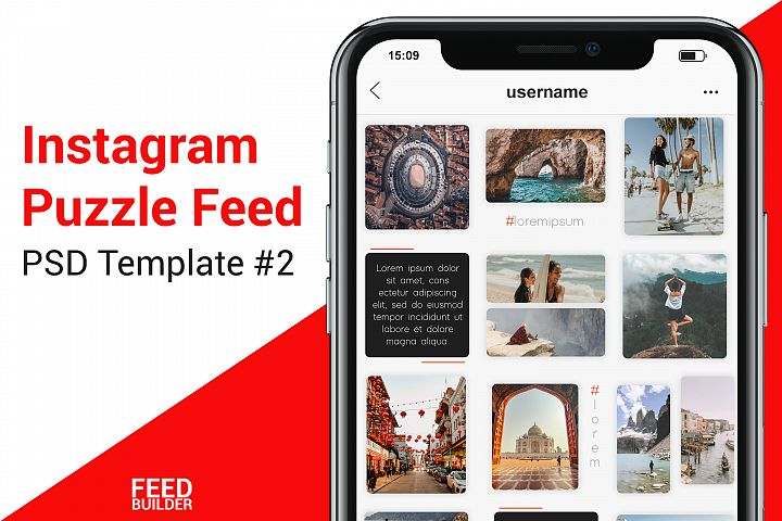 Instagram Puzzle Feed Template #2
