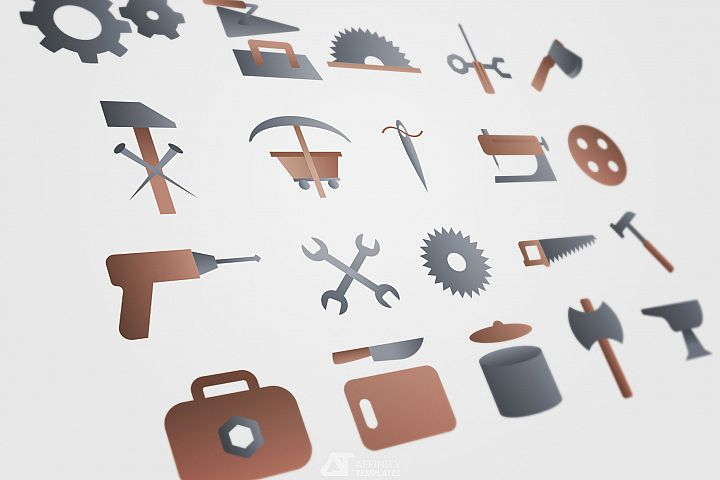 Workshop tools logo elements