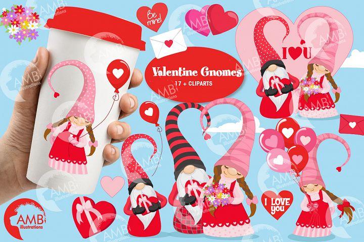 Valentine gnomes clipart AMB-2704