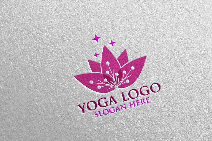 Yoga and Spa Lotus Flower logo 6