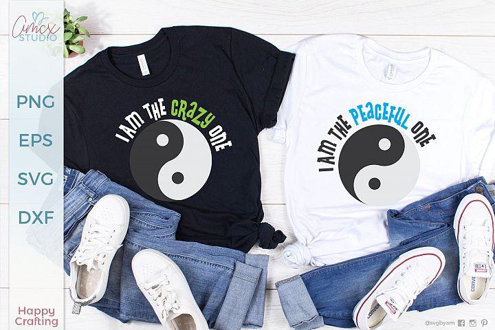 Ying and Yang - Couples Shirts SVG Craft file