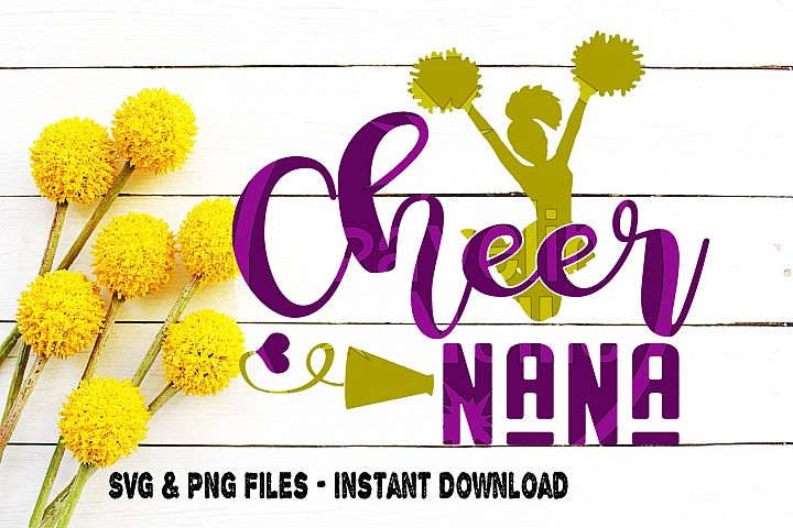 Cheer Nana SVG Cheerleading Cheerleader Squad Team Nana
