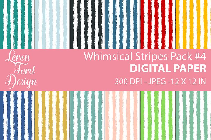 Whimsical Stripes Pack #4 Digital Paper