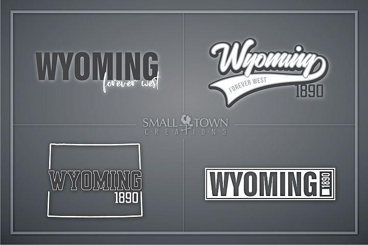 Wyoming, Forever West - slogan, Logo, PRINT, CUT & DESIGN