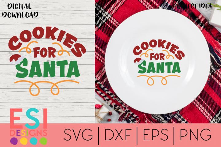 Christmas SVG |Cookies for Santa example image 1
