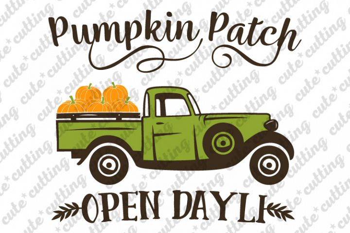 Pumpkin truck svg, truck with pumpkins svg, jpeg, dxf, png