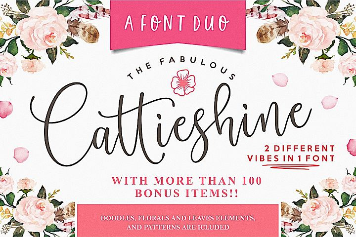 Cattieshine - Font Duo