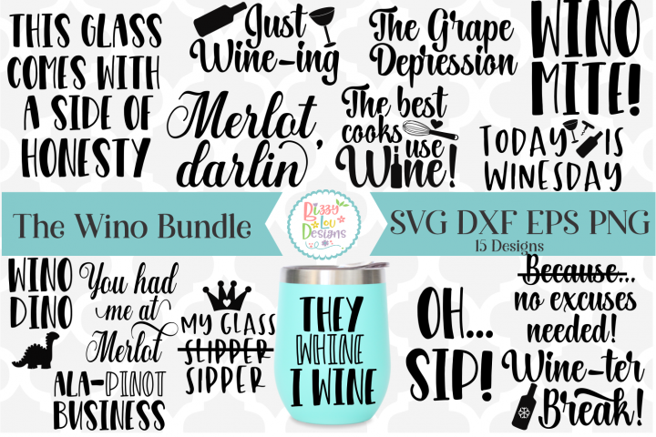 Wino Bundle - Wine Bundle - Wine SVG Cutting File