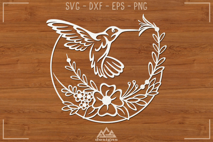 Humming Bird Svg Design