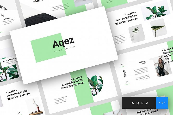 Aqez - Clean Keynote Template