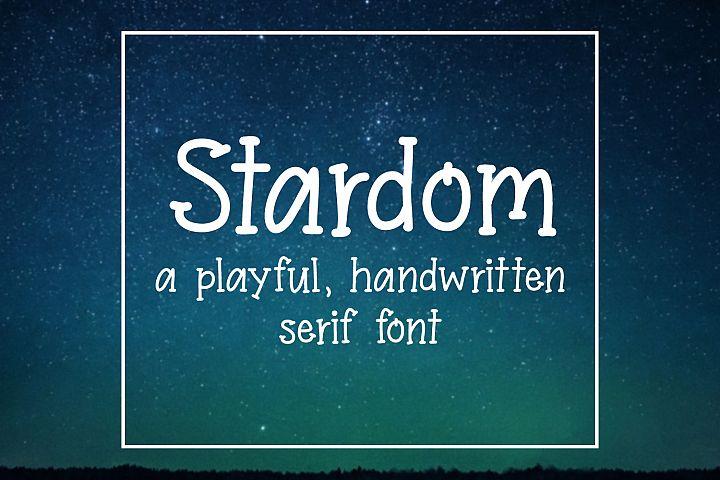 Stardom - Serif Handwritten Font example