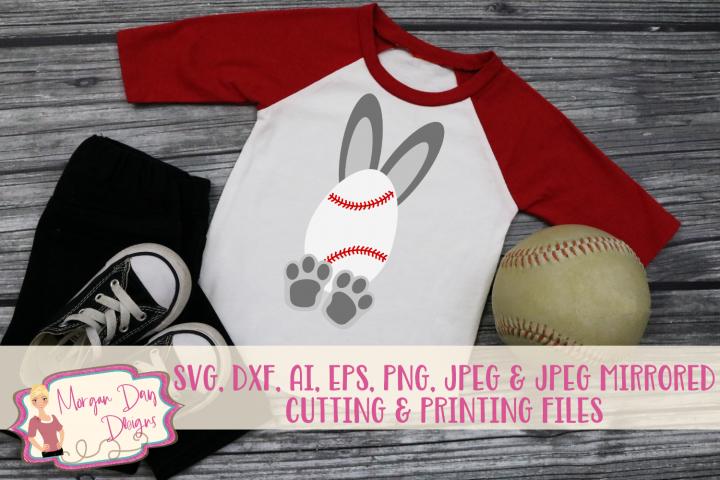 Baseball Bunny - Easter SVG, DXF, AI, EPS, PNG, JPEG