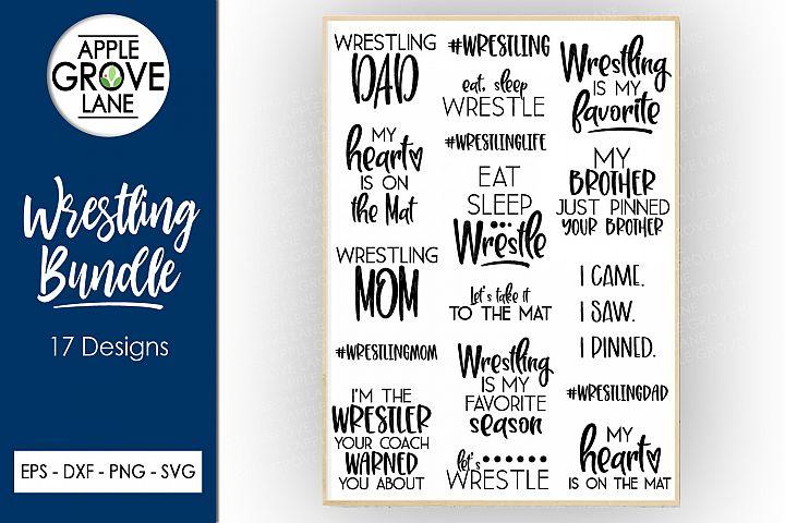 Wrestling SVG Bundle - 17 designs - Svg Eps Dxf Png