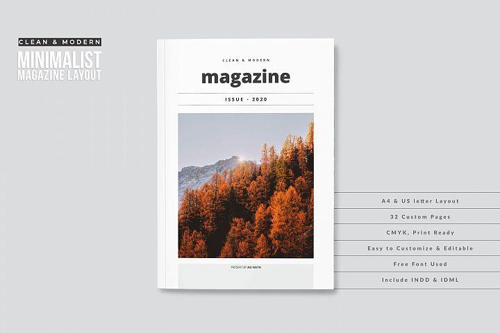 Clean & Modern Minimalist Magazine Layout