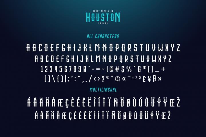 Houston Sports Font Family example image 4