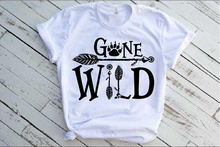 Gone Wild SVG Bear Paw Arrow Stay One Birthday baby 1533s