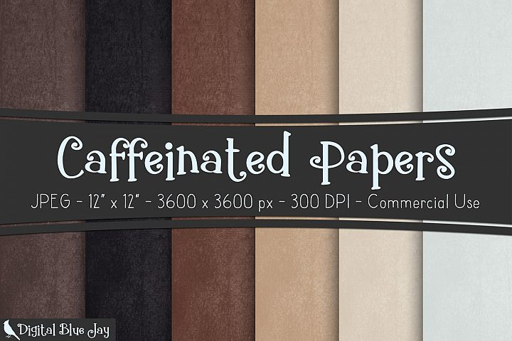Digital Paper Textured Backgrounds - Caffeinated