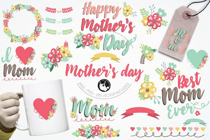 Mothers day graphics and illustrations - Free Design of The Week