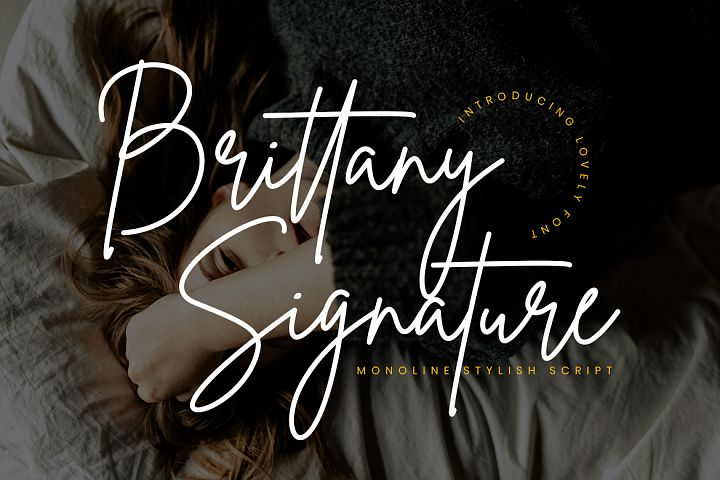 Brittany Signature Script - Free Font of The Week Font