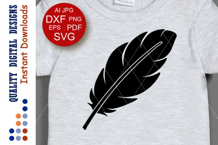Black feather svg Thanksgiving decor Cricut Silhouette