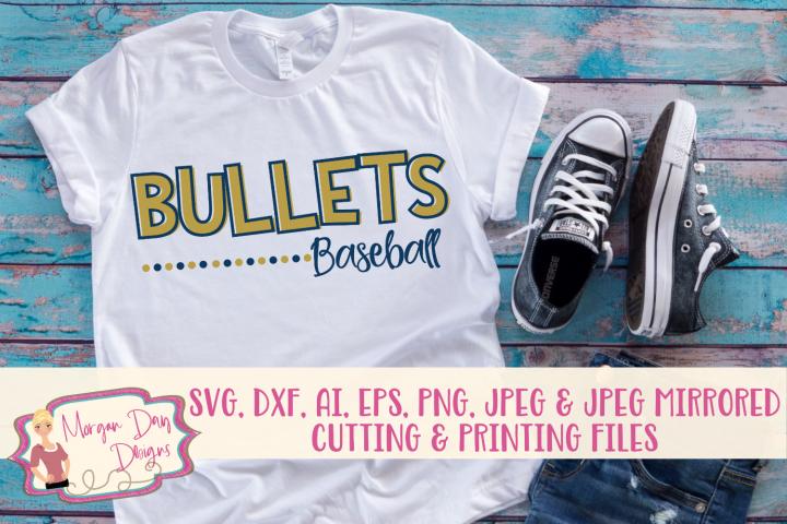 Bullets Baseball SVG, DXF, AI, EPS, PNG, JPEG