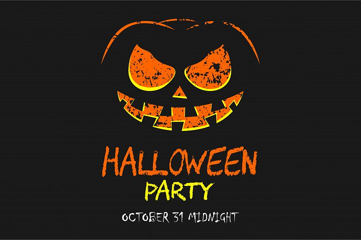 Scary halloween party with pumpkin background