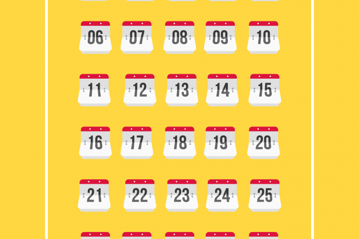 Calendar Number Iconset