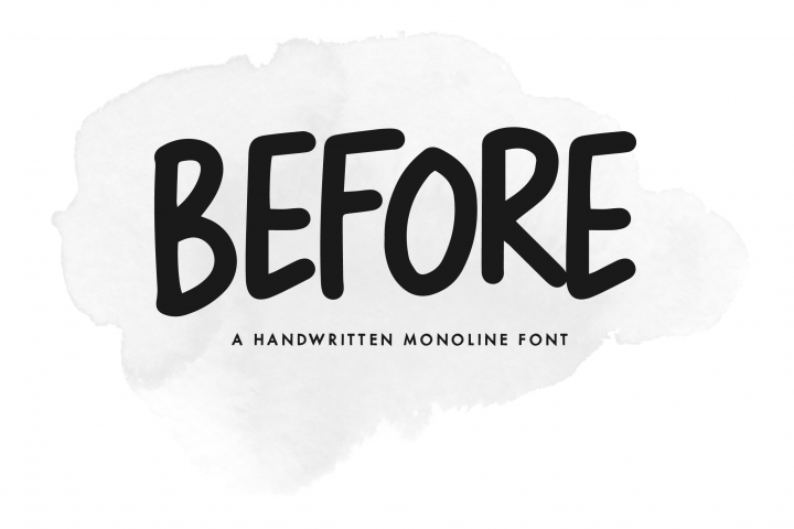Before - A Handwritten Monoline Font
