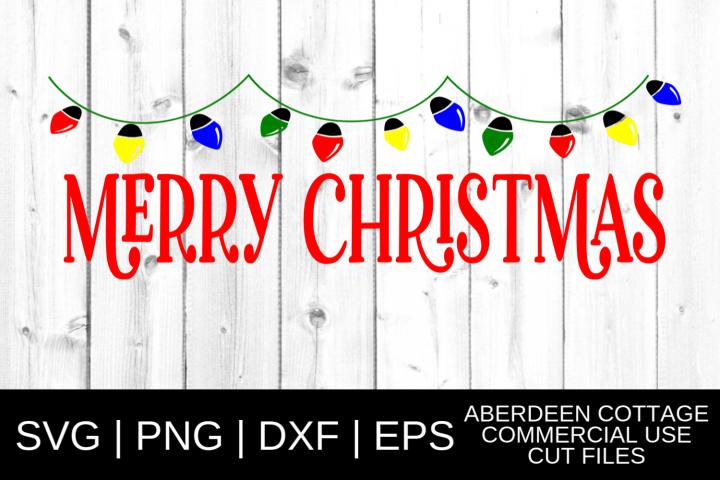 Merry Christmas Lights SVG