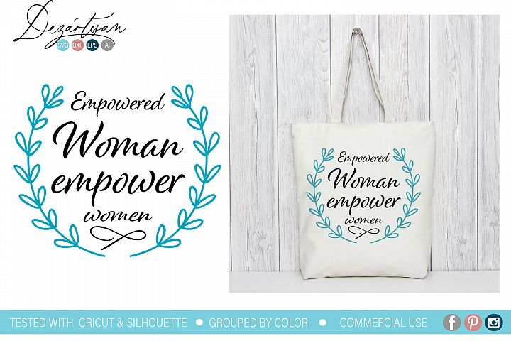 Empowered woman empower women SVG DXF cut file