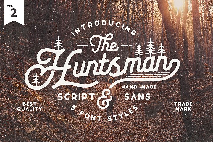 The Huntsman Semi Rounded Script and Sans Ver.2