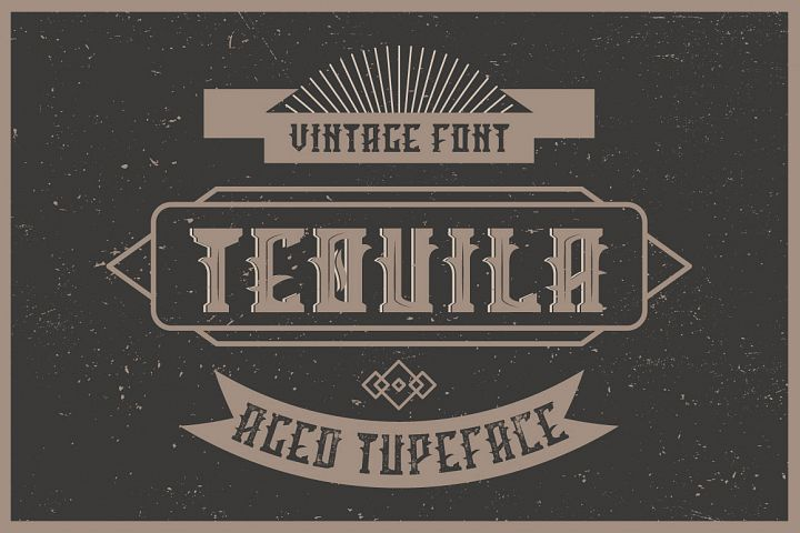 Tequila label font