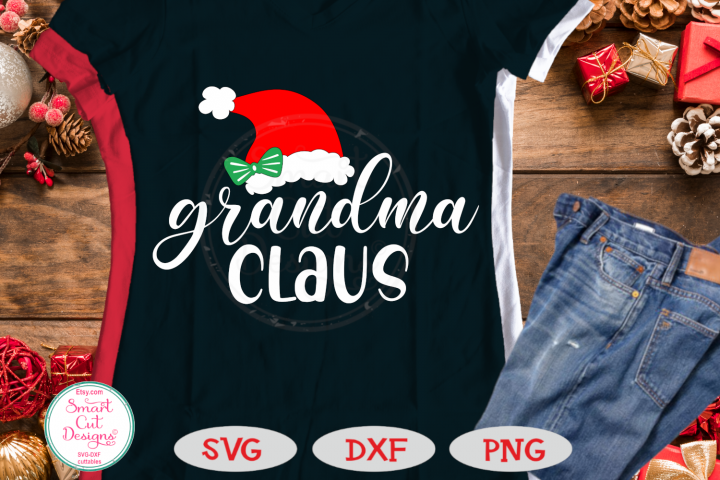 Grandma Claus SVG, Christmas Grandma SVG, Grandmother, Nana