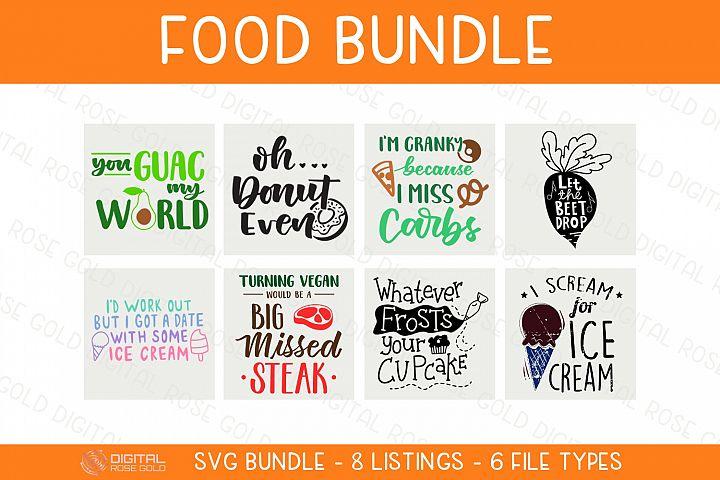 Food Bundle - SVG BUNDLE - Funny Food SVG Quotes, Candy SVG