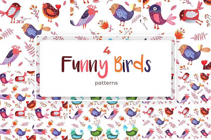 4 Birds Patterns