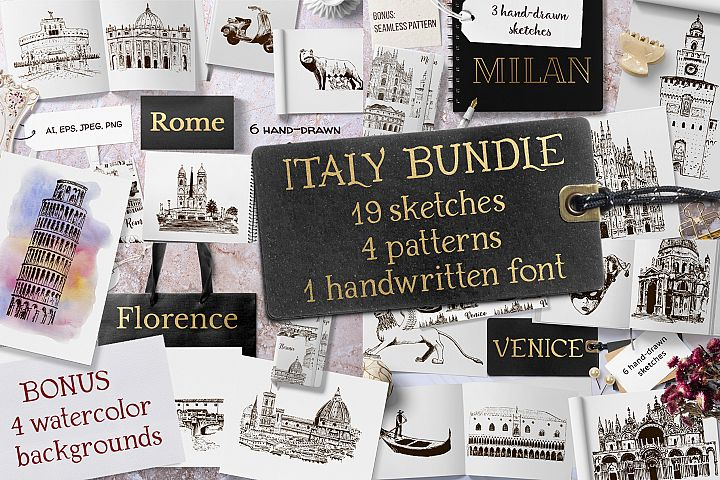 Italian sketches bundle