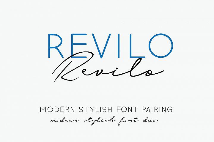 revilo font pairing duo