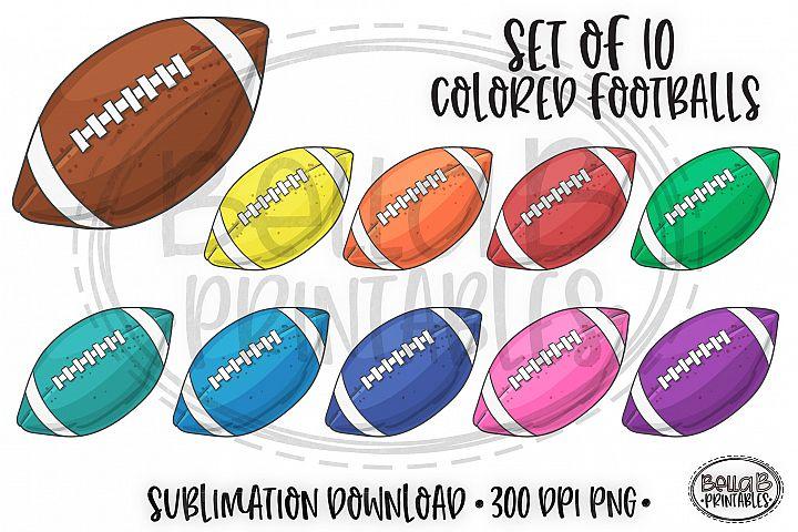 Football Sublimation, Color Football Extras Elements Bundle