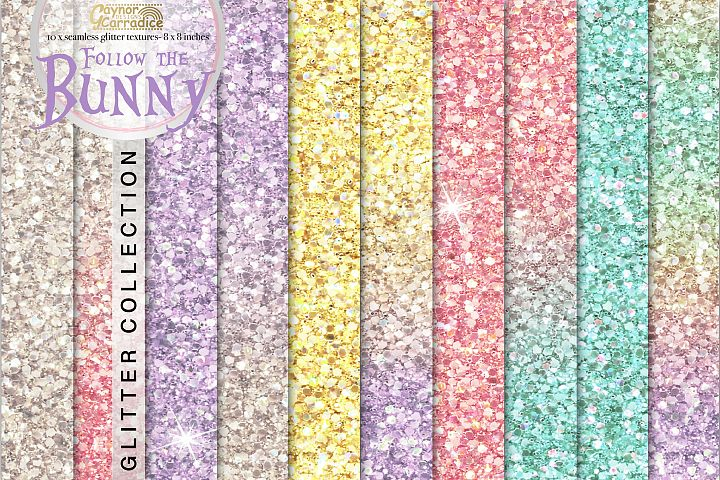 Follow the Bunny- rainbow Glitter backgrounds