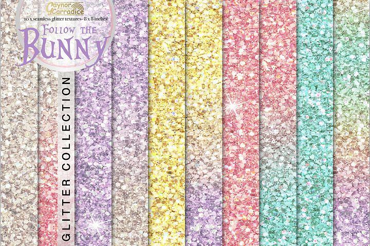 Follow the Bunny- rainbow Glitter backgrounds