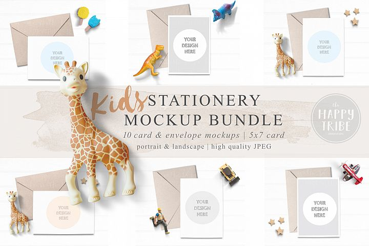 Kids Card Mockup Bundle