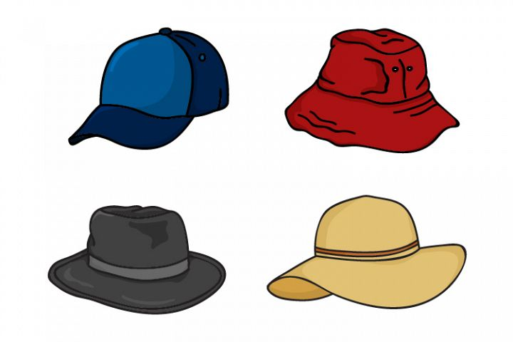 collection of hat vector designs