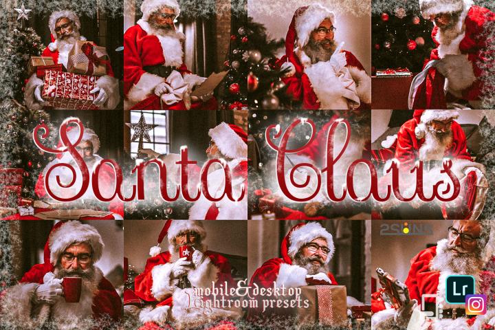 5 Santa Claus lightroom presets winter preset Christmas